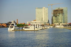 Baltimore  inner Harbor docking Stock Image