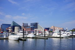 Baltimore  inner Harbor docking Stock Photos