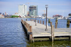 Baltimore  inner Harbor docking Royalty Free Stock Image