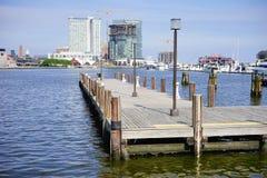 Baltimore  inner Harbor docking Royalty Free Stock Image