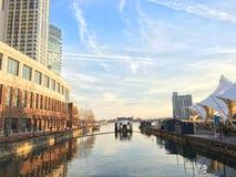 Baltimore Inner Harbor. Good day in winter stock photography