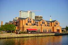 Baltimore inner harbor hotel. A hotel in Baltimore inner Harbor scenic area stock photos