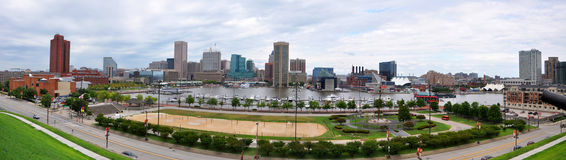 Baltimore Inner Harbor Panorama Royalty Free Stock Photos