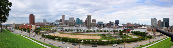 Baltimore Inner Harbor Panorama Stock Photo