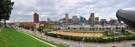 Baltimore Inner Harbor Panorama Royalty Free Stock Photography