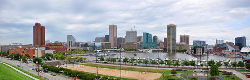 Baltimore Inner Harbor Panorama Stock Photography