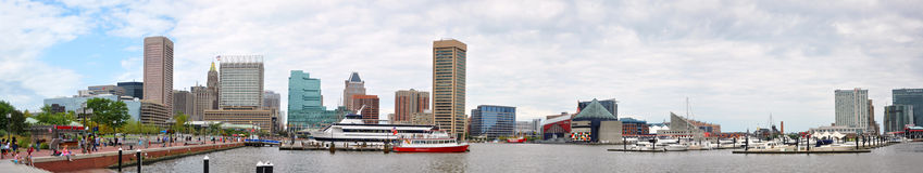 Baltimore Inner Harbor Panorama Stock Images