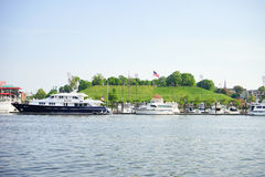 Baltimore inner Harbor park. Baltimore inner Harbor scenic area and park royalty free stock images