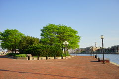 Baltimore inner harbor park stock images