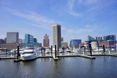 Baltimore inner harbor ship. Baltimore inner Harbor scenic area and downtown ship royalty free stock images