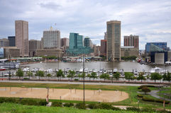 Baltimore Inner Harbor skyline Royalty Free Stock Images