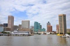 Baltimore Inner Harbor skyline. Baltimore, Maryland, USA royalty free stock photo