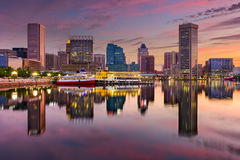 Baltimore Inner Harbor Skyline. Baltimore, Maryland, USA skyline at the Inner Harbor Stock Photo