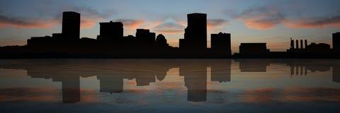 Baltimore Inner Harbor at sunset Stock Photo