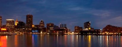 Baltimore-innerer Hafen (panoramisch) Stockbilder