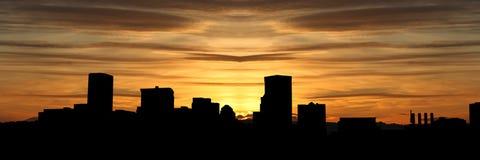 Baltimore-innerer Hafen am Sonnenuntergang Lizenzfreies Stockbild
