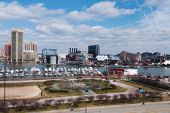 Baltimore landscape. See of the Baltimore harbor in March 2012 royalty free stock images