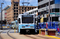 Baltimore, M.D.: Lichte het Spoortrein van MTA royalty-vrije stock afbeelding