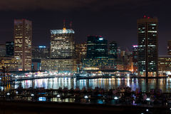 Baltimore Maryland. At Night Time, United States of America stock images
