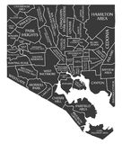 Baltimore Maryland city map USA labelled black illustration. Baltimore Maryland city map USA labelled black Stock Photos