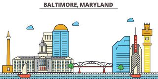 Baltimore, Maryland.City skyline   Royalty Free Stock Photo