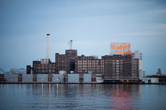 BALTIMORE MARYLAND - FEBRUARI 18: Den inre hamnen i Baltimore, Maryland, USA på Februari 18, 2017 Royaltyfri Fotografi