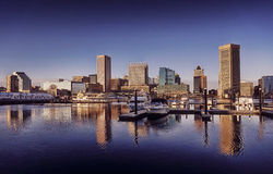 Baltimore Maryland Inner Harbor Downtown Skyline Royalty Free Stock Image