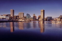 Baltimore Maryland Inner Harbor Downtown Skyline Stock Images