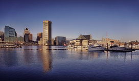 Baltimore Maryland Inner Harbor Downtown Skyline Stock Photos