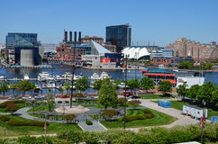 Baltimore Maryland Inner Harbor Skyline Stock Photos