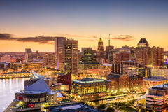 Baltimore, Maryland linia horyzontu Zdjęcia Stock