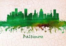 Baltimore Maryland linia horyzontu ilustracja wektor