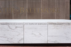 Baltimore Maryland 9/11 memorial stock images