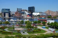 Baltimore Maryland schronienia Wewnętrzna linia horyzontu Zdjęcia Stock