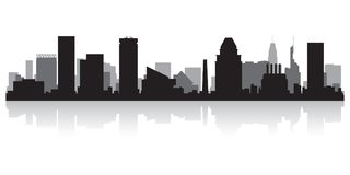 Baltimore Maryland city skyline silhouette vector illustration