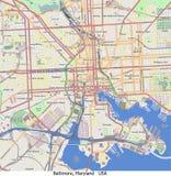 Baltimore Maryland USA hi res aerial view Royalty Free Stock Photo