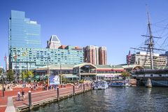Baltimore Downtown Skyline royalty free stock photography