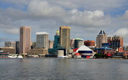 Baltimore, MD: Center City Skyline Royalty Free Stock Images