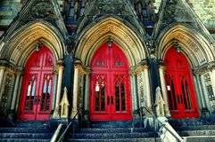 Baltimore, MD: Door Bays at Mount Vernon Methodist Chruch. Baltimore, Maryland :  Triple door bays at 1843 Mount Vernon Place United Methodist Church Stock Image