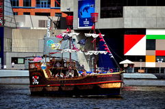 Baltimore, MD: Fearless Pirate Boat Stock Images