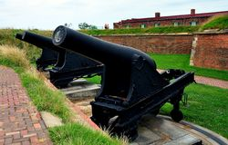 Baltimore, MD: Fort McHenry Cannons Stock Photography