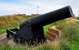 Baltimore, MD: Fort McHenry-Kanone Stockbilder