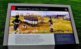 Baltimore, MD: Fortu McHenry znak Zdjęcia Stock