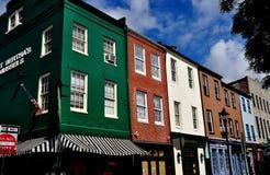 Baltimore, MD: Historyczny Powalać punktów budynki Obraz Royalty Free
