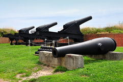 Baltimore, MD: Kanonen am Fort McHenry Stockbild