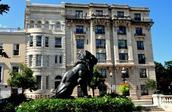 Baltimore, MD: Mount Vernon miejsca mieszkania Zdjęcie Royalty Free