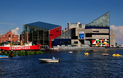 Baltimore, MD: Nationales Aquarium am inneren Hafen Lizenzfreies Stockfoto