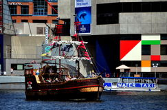 Baltimore, MD: Pirate Ship in Inner Harbor Stock Photography