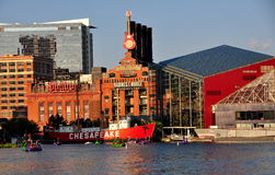 Baltimore, MD: Power Plant and National Aquarium Royalty Free Stock Image