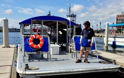 Baltimore, MD: Red Line Water Taxi at Fells Point stock images